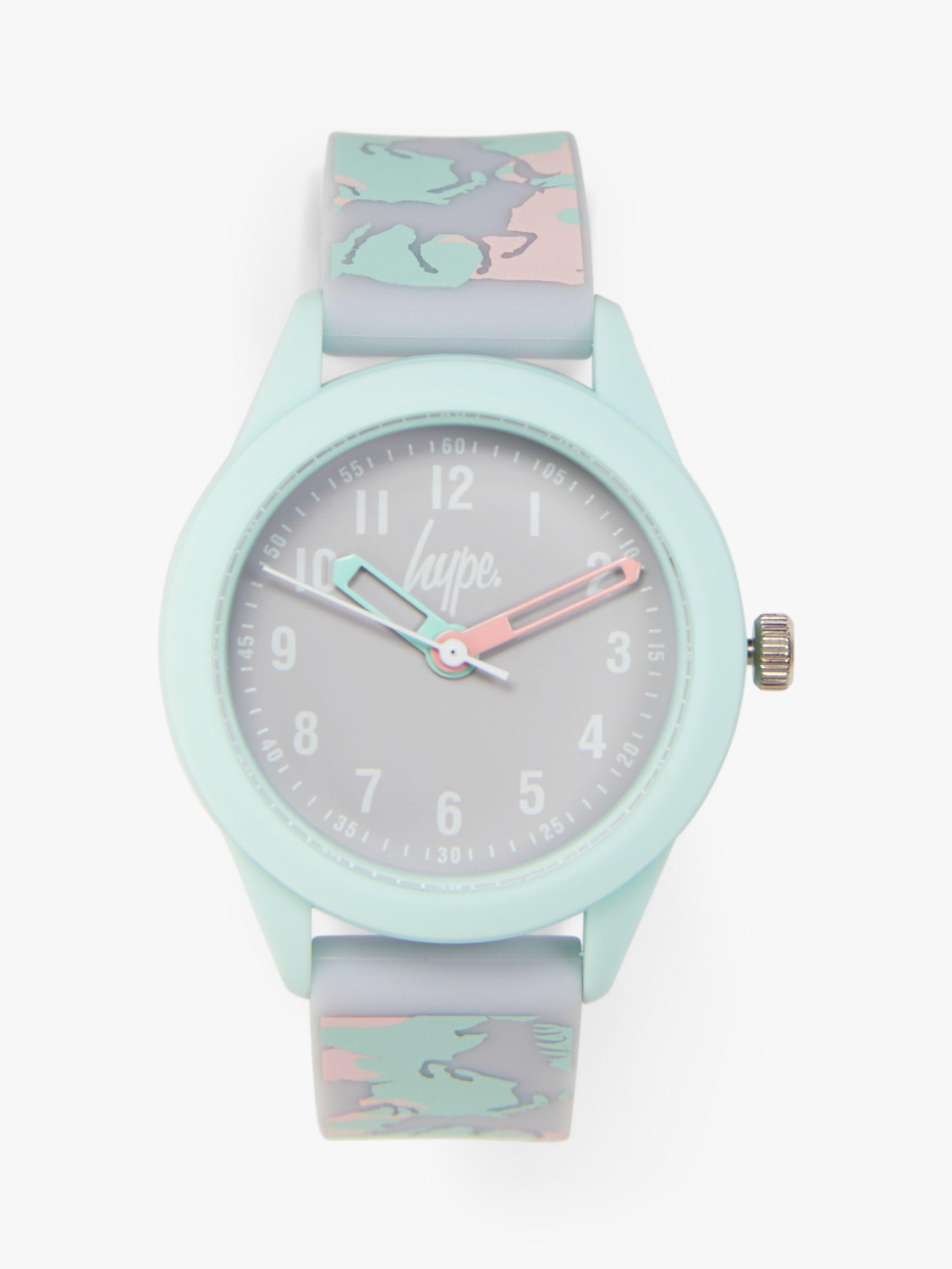 Hype Hype HYK011ENP Children's Silicone Strap Watch, Multi/Grey