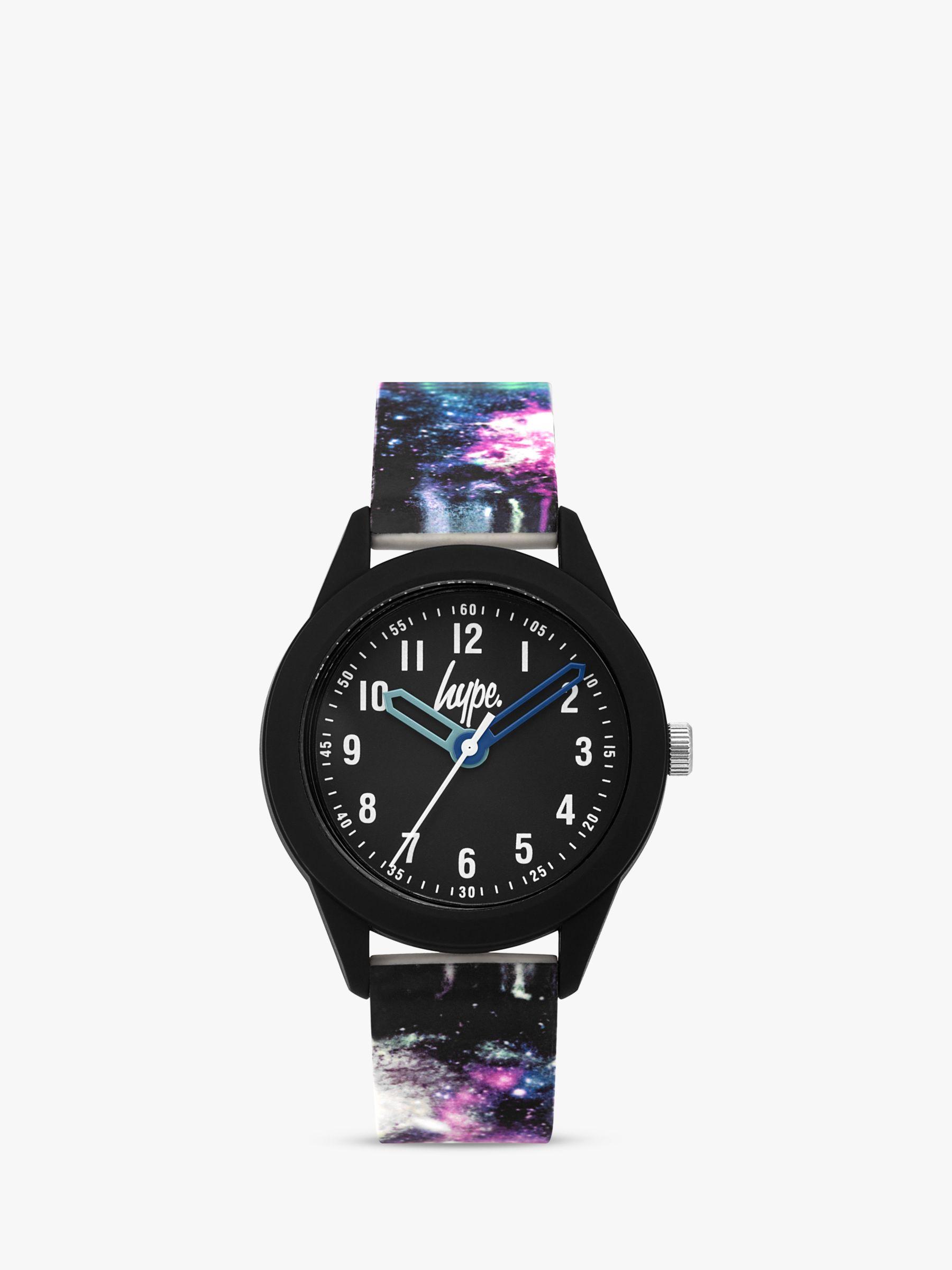Hype Hype HYK007BV Children's Silicone Strap Watch, Multi/Black