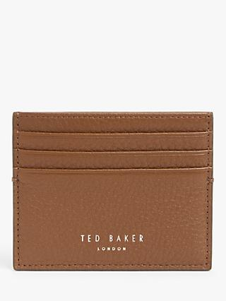 Ted Baker Cascade Leather Card Holder, Brown