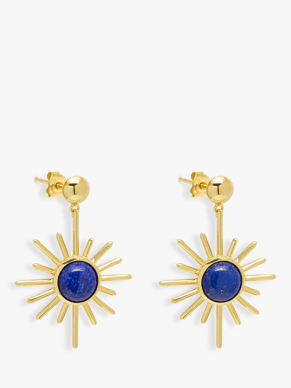 Lola Rose Lola Rose Curio Celestial Semi-Precious Stone Drop Earrings, Lapis Lazuli