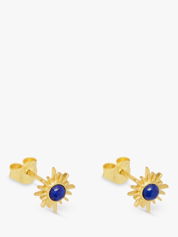 Lola Rose Lola Rose Curio Semi-Precious Stone Celestial Sunburst Stud Earrings