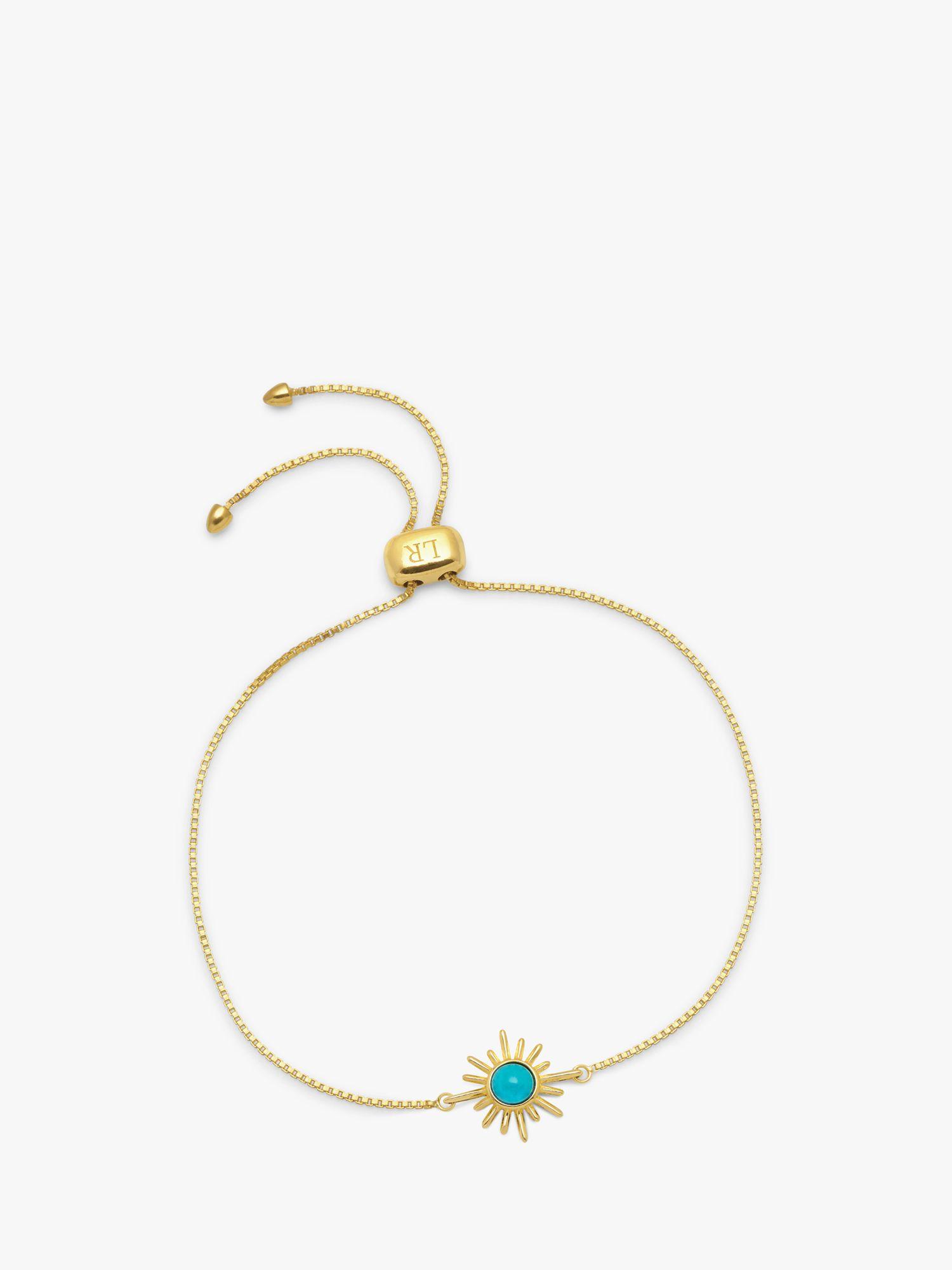 Lola Rose Lola Rose Curio Celestial Sunburst Slider Chain Bracelet, Faux Turquoise
