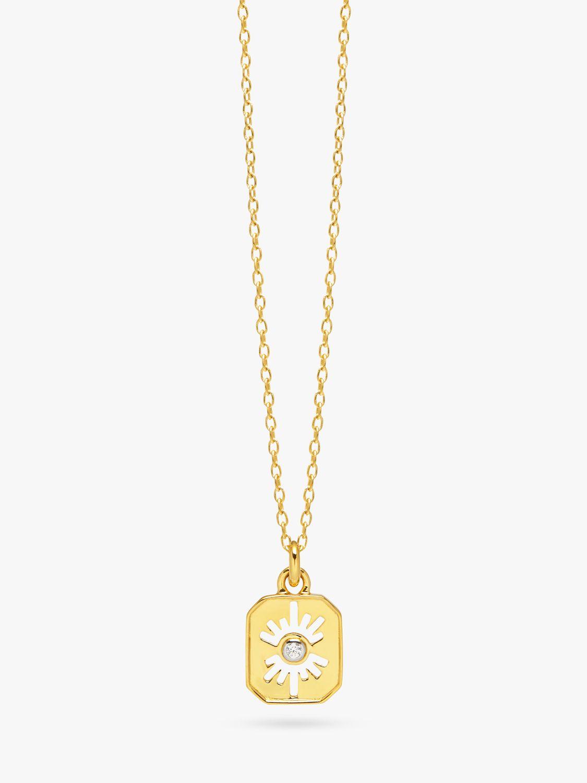 Lola Rose Lola Rose Curio Celestial Zircon Mini Pendant Necklace, Gold