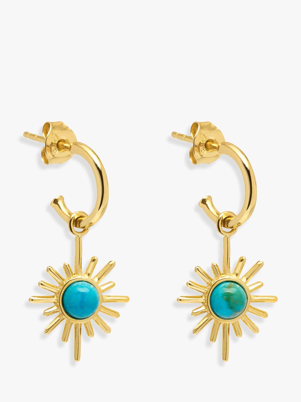 Lola Rose Lola Rose Curio Celestial Stone Huggie Drop Earrings, Faux Turquoise