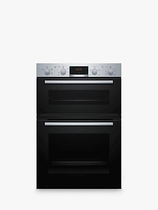 Bosch MHA133BR0B Built-In Double Electric Oven, A/B Energy Rating, Black