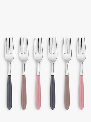 John Lewis & Partners Vero Pastry Forks, Set of 6