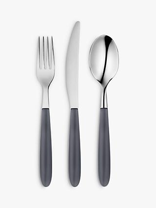 John Lewis & Partners Vero Cutlery Set, 18 Piece/6 Place Settings