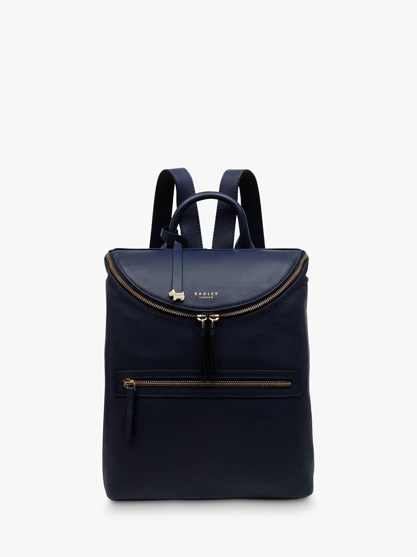 Radley Radley Crown Hill Medium Leather Zip Top Backpack, Ink