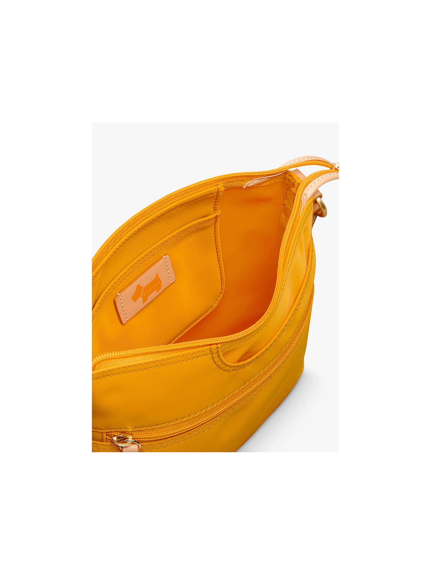 Buy Radley Pocket Essentials Fabric Small Cross Body Bag, Buttercup Online at johnlewis.com