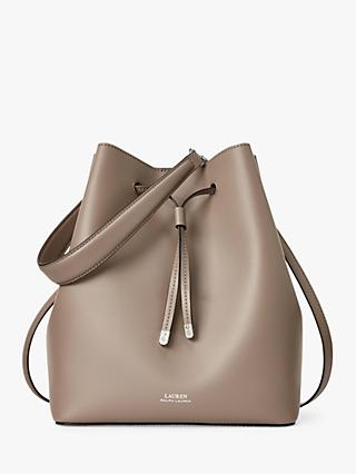 Lauren Ralph Lauren Dryden Debby Leather Medium Bucket Bag