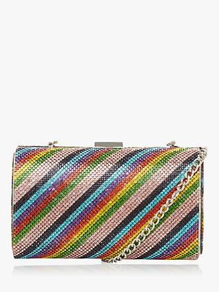 Dune Bryannie Diamante Clutch Bag, Multi