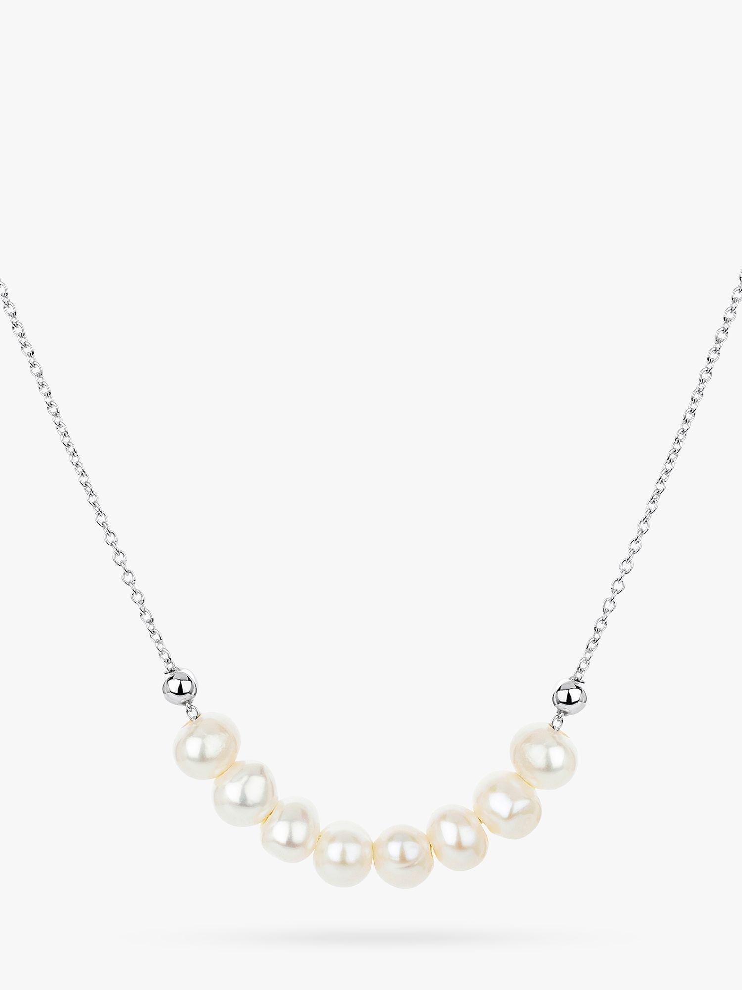 Claudia Bradby Claudia Bradby Angelina Pearl Collar Necklace, Silver