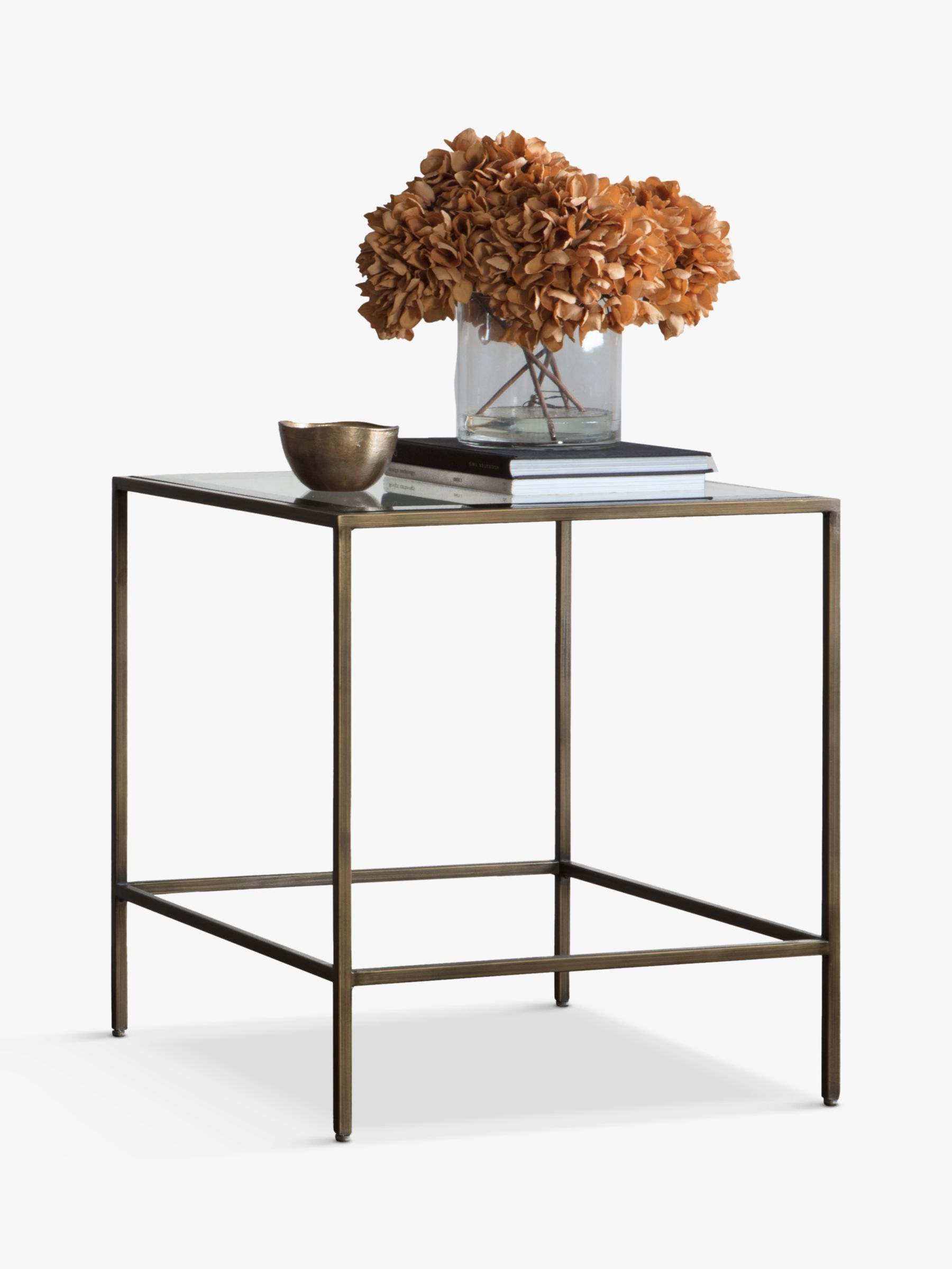Picture of: Gallery Direct Outline Glass Side Table Bronze At John Lewis Partners
