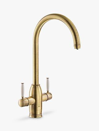 Abode Province 2 Lever 4-In-1 Instant Steaming Hot Water Kitchen Mixer Tap