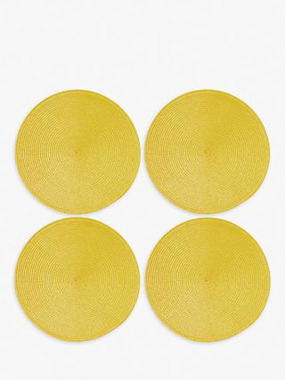 John Lewis & Partners Round Braided Placemats, Set of 4