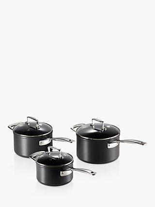 Le Creuset Toughened Non-Stick Saucepan & Lid Set, 3 Piece