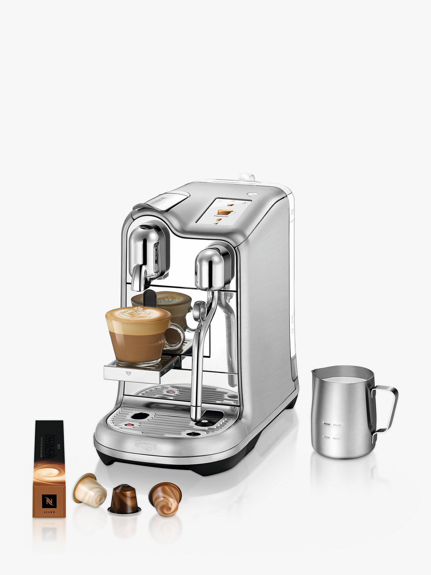 Buy Nespresso Creatista Pro SNE900BSS Coffee Machine by Sage, Stainless Steel Online at johnlewis.com