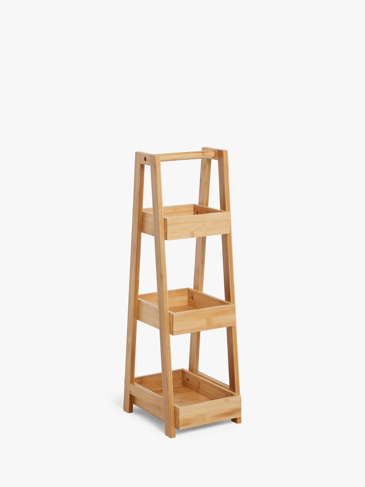 john lewis  partners bamboo 3 tier bathroom caddy small