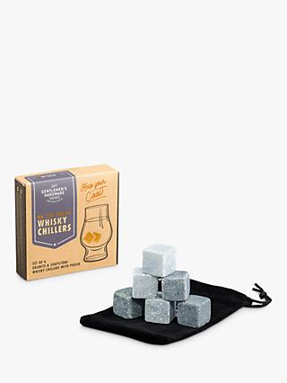 Gentlemen's Hardware Whisky Chiller Stones & Pouch, Set of 6