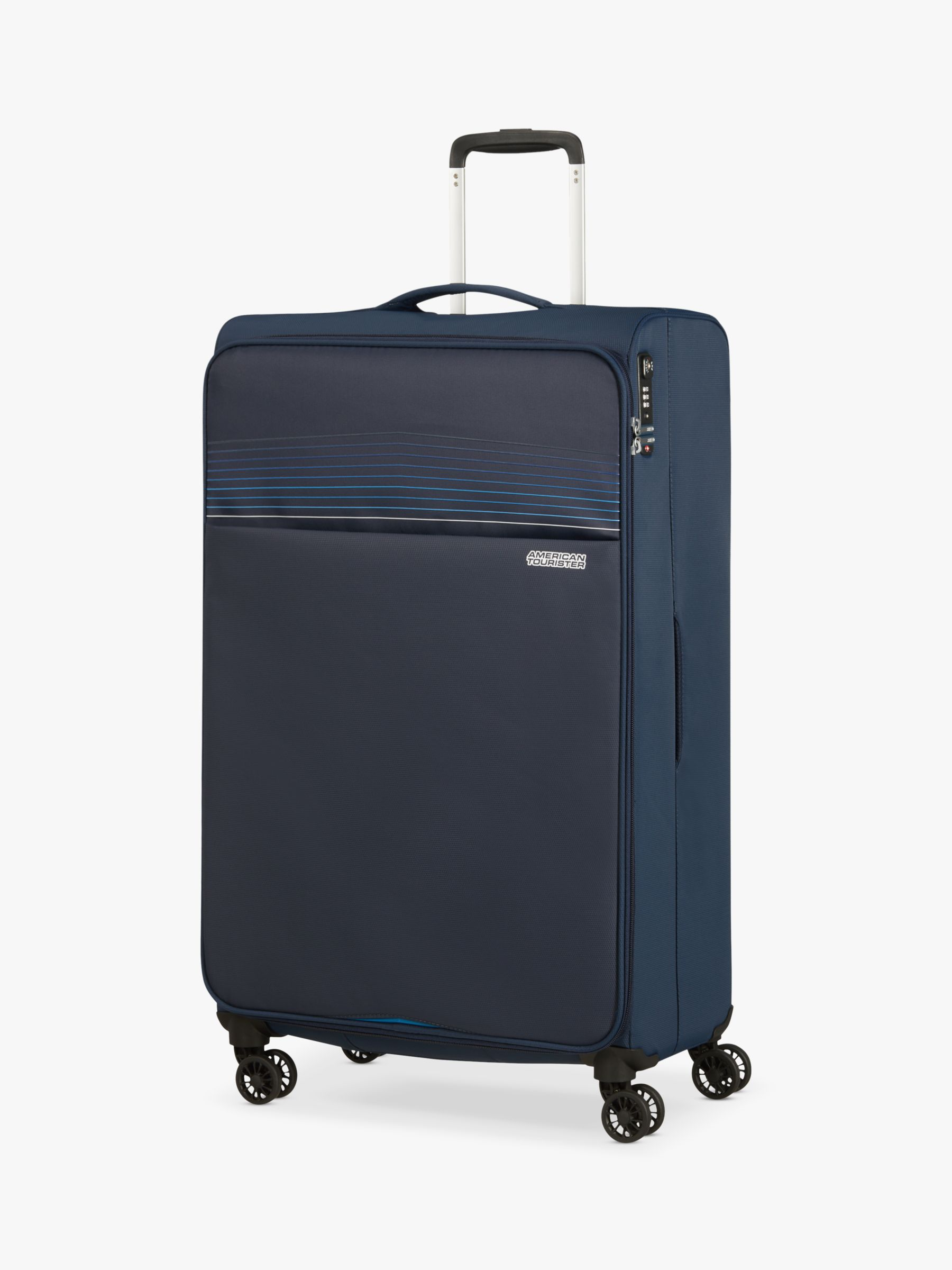 American Tourister American Tourister Lite Ray 4-Wheel 81cm Large Suitcase, Navy