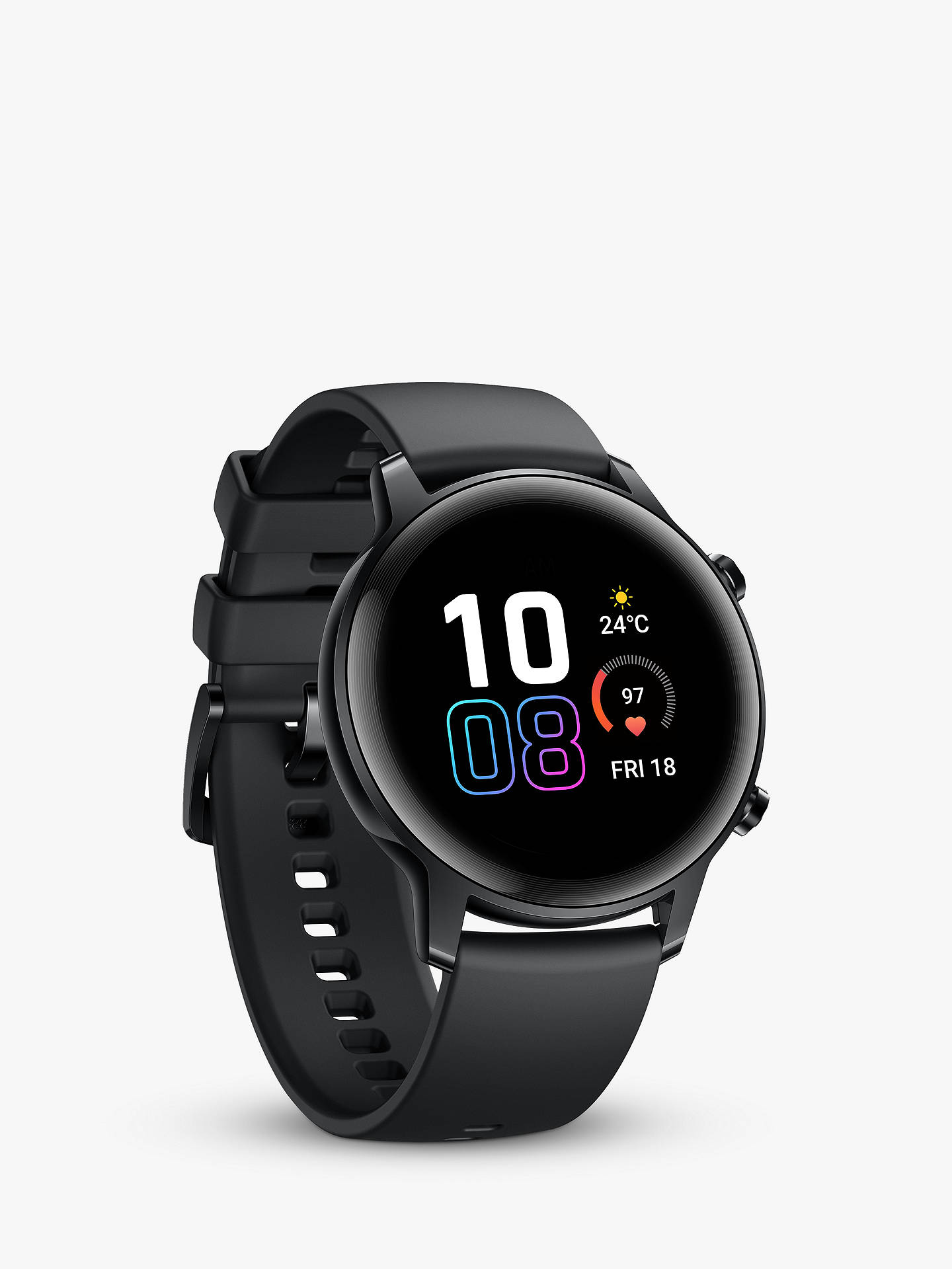 Buy Honor MagicWatch 2, with HR Monitoring, 42mm, Agate Black Online at johnlewis.com