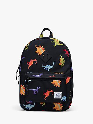 Herschel Supply Co. Children's Heritage Youth Dinosaur Backpack, Black