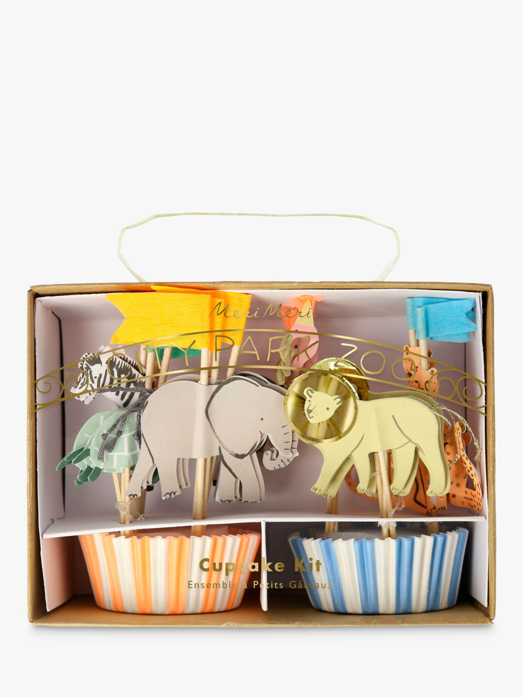Meri Meri Meri Meri City Park Zoo Cupcake Kit, Set of 24