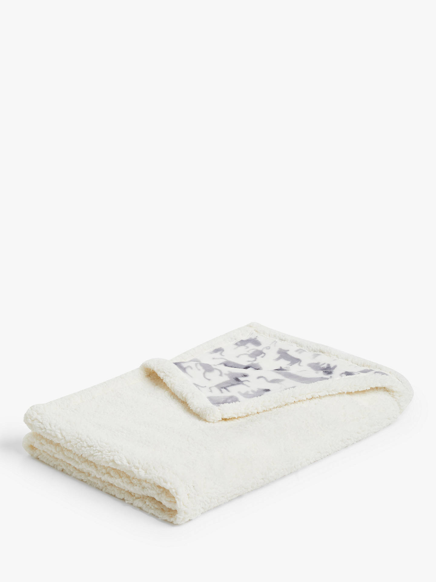 Buy little home at John Lewis Safari & Friends Sherpa Fleece Throw Online at johnlewis.com