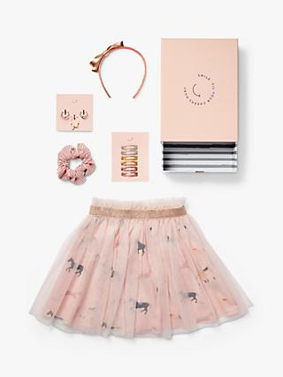 Stych Girls' Carousel Skirt And Accessories Gift Box Set, Pink