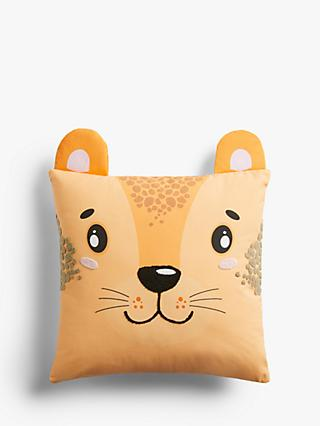little home at John Lewis Cheetah Cushion, Multi