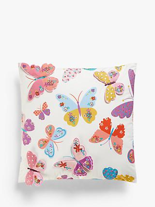 little home at John Lewis Butterflies 3D Cushion, Multi