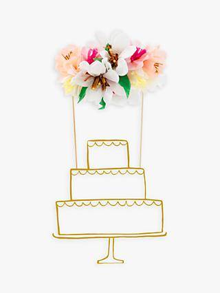 Meri Meri Flower Cake Topper, Pack of 2