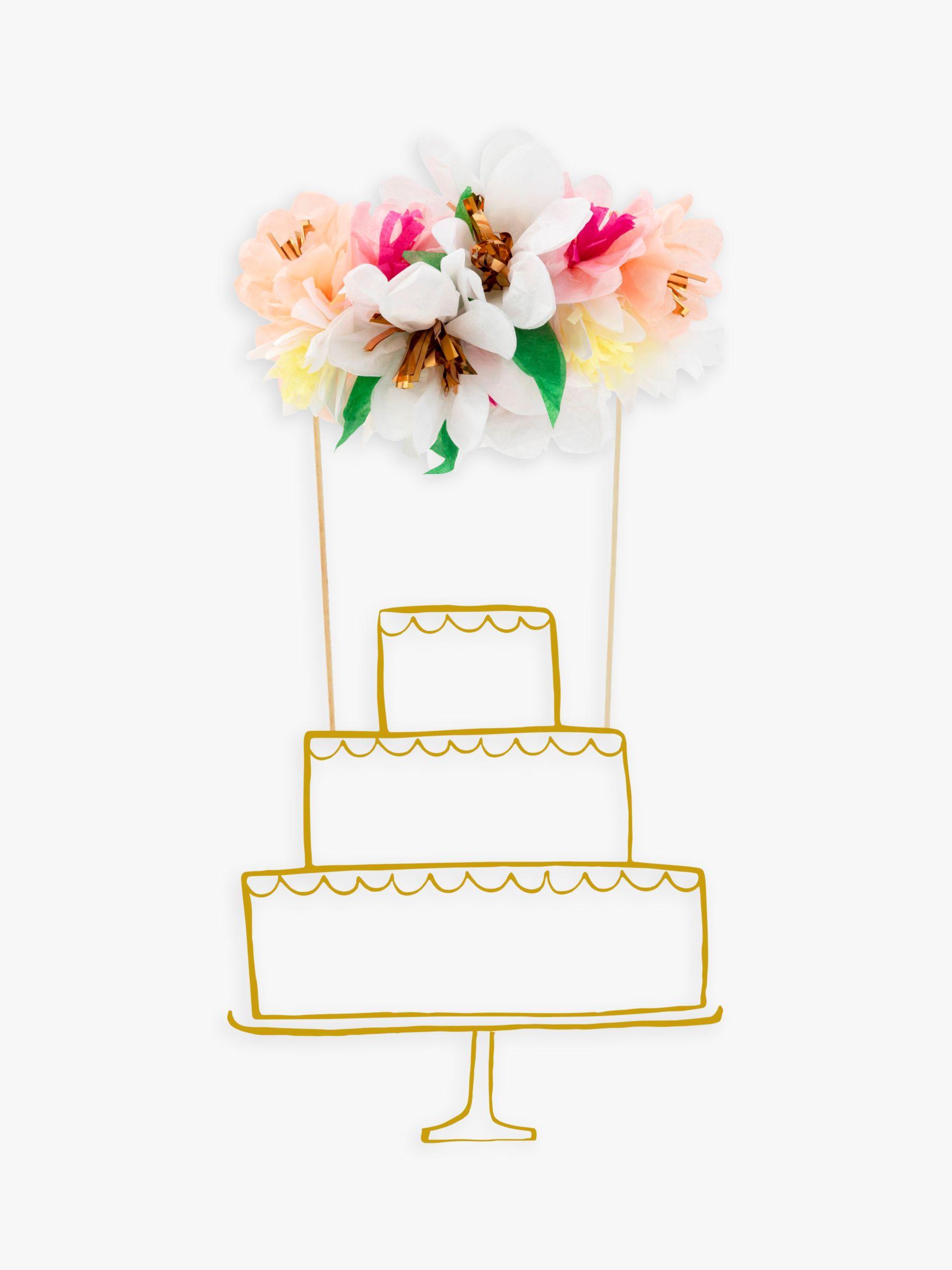 Meri Meri Meri Meri Flower Cake Topper, Pack of 2