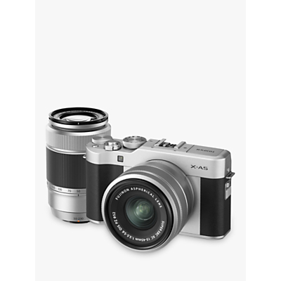 Fujifilm X-A5 Compact System Camera with XC 15-45mm OIS Lens & XC 50-230mm OIS Lens, 4K Ultra HD, 24.2MP, Wi-Fi, Bluetooth, 3� Tiltable LCD Touch Screen, Double Lens Kit