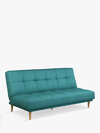 Linear Range, John Lewis & Partners Linear Large 3 Seater Sofa Bed, Light Leg