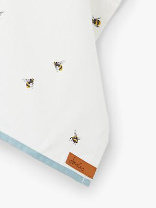 Joules Bee Cotton Tea Towel, White