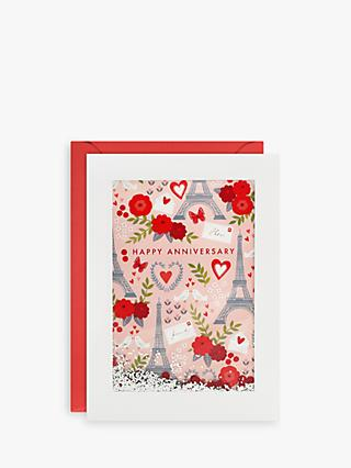 James Ellis Stevens Paris Glitter Anniversary Card