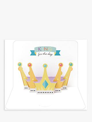 Art File King for the Day Blank Greeting Card