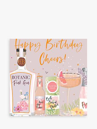 Belly Button Designs Gin Cheers Birthday Card