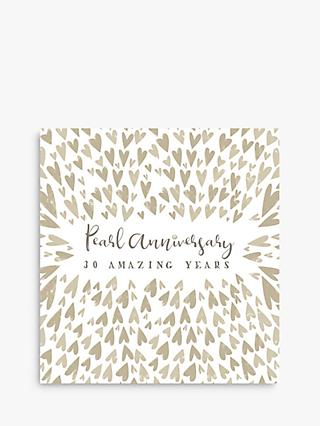 Art File Pearl Wedding Anniversary Card