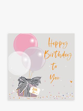 Belly Button Designs Gift & Balloons Birthday Card