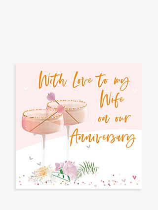 Belly Button Designs Cocktails Wife Anniversary Card