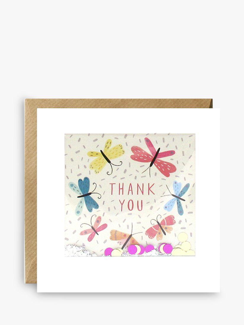 James Ellis Stevens James Ellis Stevens Glitter Butterflies Thank You Card
