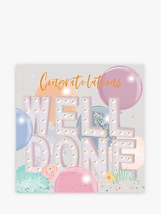 Belly Button Designs Balloons Well Done Congratulations Card
