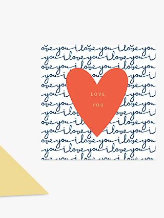 Laura Darrington Design Heart Love You Anniversary Card