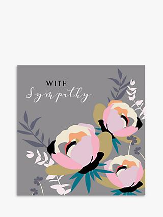 Laura Darrington Design Peony With Sympathy Card