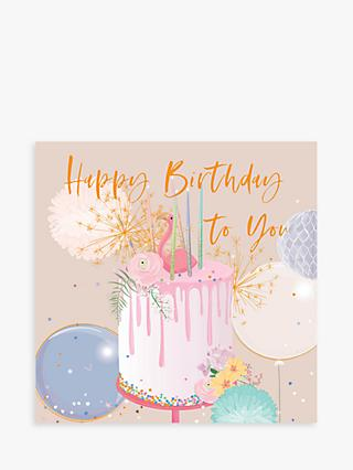 Belly Button Designs Cake Birthday Card
