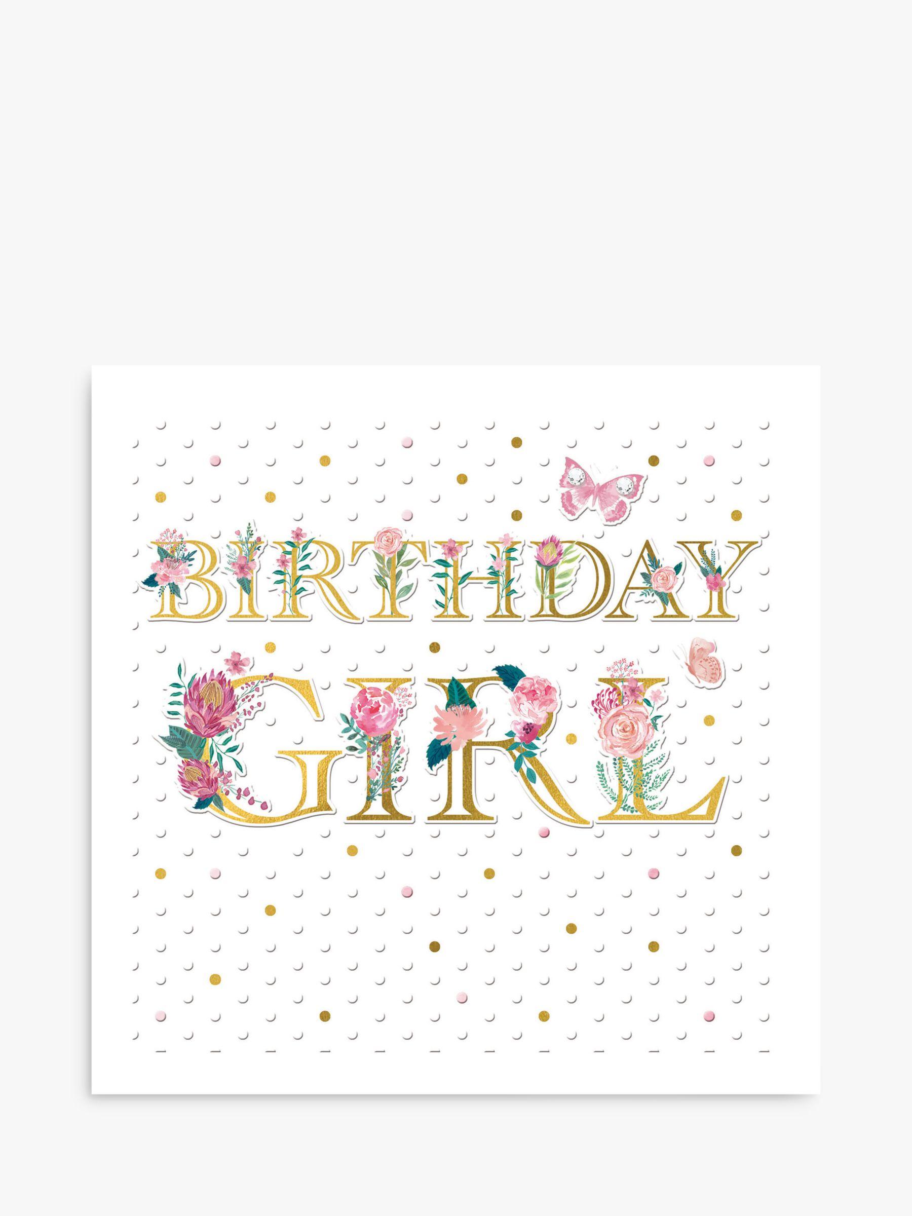 Woodmansterne Woodmansterne Floral Birthday Girl Card