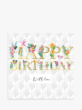 Woodmansterne Floral With Love Birthday Card