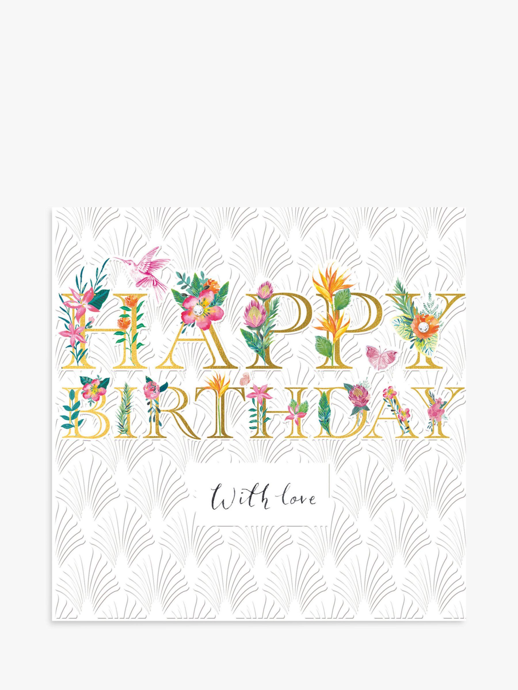 Woodmansterne Woodmansterne Floral With Love Birthday Card